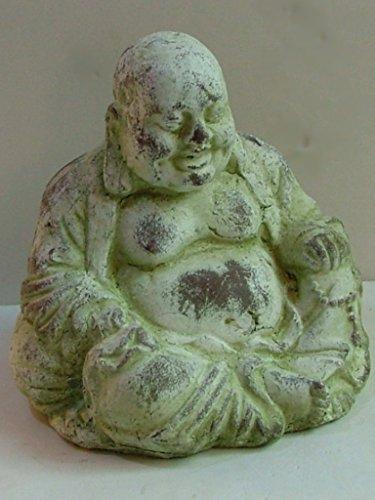 Dalux® Buddha Figur lachende Buddha-Skulptur Keramik H25cm Gartenfigur Gartendeko