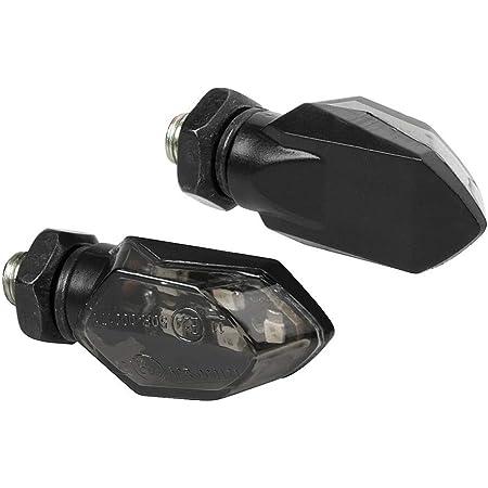 Krtopo 2PCS 12LEDs Indicatori Di Direzione Per Moto Indicatori Di Lampadina Lampeggiatori Luci Ic Chip Di Controllo Con Funzione Di Flusso Di Luce Giallo-Blu DC 12V Impermeabile