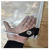 ZHANGQINGXIU Lonas Impermeables Exterior,Versión 2020 Actualización Lonas Transparentes Lonas De Plástico Con Ojales Protector Solar A Prueba De Agua Envoltura De Cuerda De Borde Cubierta Suave De PVC