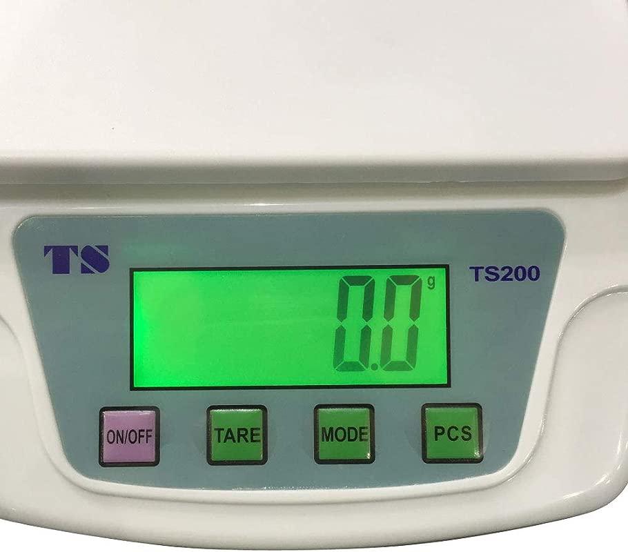 200 10KG 0 5G TS200 Portable Plastic Electronic Scale White
