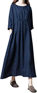 Moda 3D Striscia Stampa O-Collare Abito da Cocktail Senza Maniche Maxi Vestiti Primavera Estate Festa da Sposa Cerimonia Vacanza Spiaggia Elegante Casual VJGOAL Mini Abito da Donna