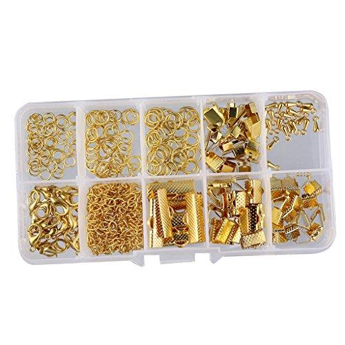 Schmuckherstellung Set Starter Kit Metall Verschluss Kettenverschluss Karabiner - Gold, 5MM-20MM
