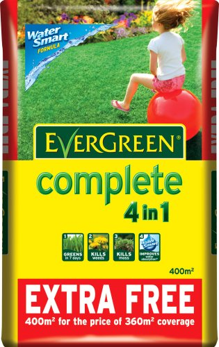 Scotts Miracle-Gro EverGreen Complete 360 sq m + 10% Extra Free Lawn Food, Weed and Moss Killer Bag