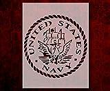 US United States Navy Round Stencil Template...