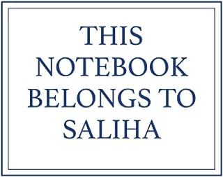 This Notebook Belongs to Saliha