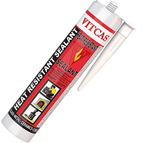 Vitcas - Sellador resistente al calor 1300 °C - 310 ml