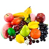 Toopify 20 Pcs Artificial Fruits, Assorted Fake Fruit Lifelike Realistic Decor