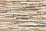 Fototapete WHITEWASHED WOOD 368x254 hell gebeizte Bretterwand, roh gesägtes Holz