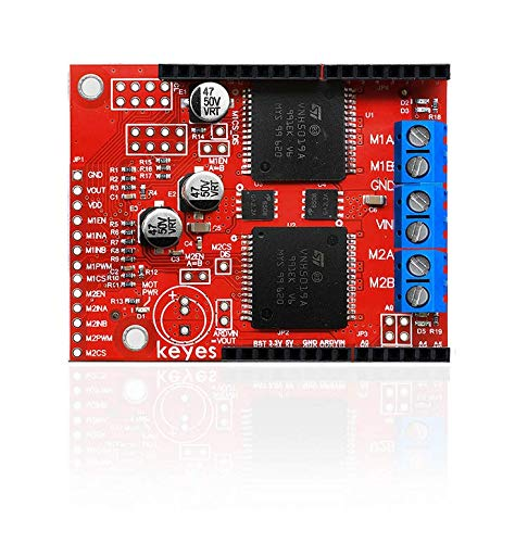 pzsmocn Arduino Dual High Power DC Motor Driver Shield VNH5019 Compatible with ARDUINO (Environmental Protection)