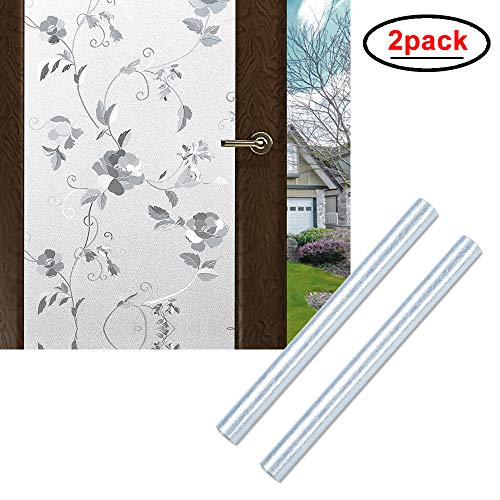 Wopeite Window Privacy Film Removable Bathroom Adhesive Window Film Frosted for Glass 35.4 X 78.7inches,2 Pack