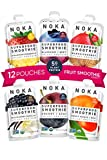 NOKA Superfood Smoothie Pouches 12 Pack (Variety) | 100% Organic Healthy Fruit And Veggie Squeeze...