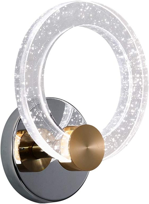 Schlafzimmer Lampe Wand WandleuchteKreis Kristall LED HAOBAO ...