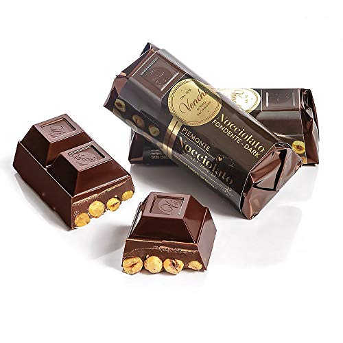 Venchi - Cioccolato Fondente con Nocciole - Chocolate negro de una pieza con avellanas del Piamonte - 56 %