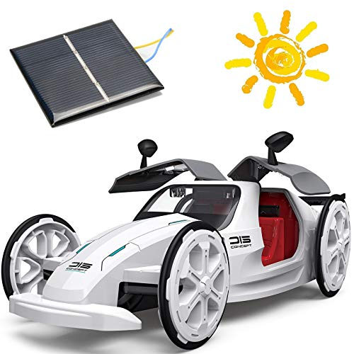ZAYOR STEM Toys Education Solar Car Toys,Mechanical Engineering Building Toys Solar and Battery Powered 2 in 1 DIY, 6 7 8 9 10 Years and Up Preschool Toddlers Kids Birthday Gifts for Boys & Girls