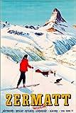 Poster 40 x 60 cm: Zermatt von Travel Collection -
