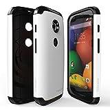 Rearth Ringke® Motorola Moto E ケース 二重層の保護スリムケースMAX Case Moto E [Eco Package] Moto E用プレミアムHD Clear保護フィルム おまけ付き! (White ホワイト)