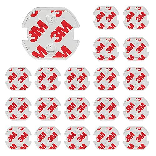 Zeaye 20pieces casquillos de seguridad infantil para el zócalo con tapas de...