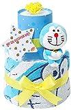 ドラえもん 出産祝い 2段 おむつケーキ 名入れ刺繍 女の子 男の子 男女兼用 出産記念 御出産祝い 名前入り お洒落 オシャレ Doraemon ギフト ドラちゃん ぬいぐるみ どらえもん パンパーステープタイプSサイズ