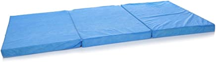 IBed home 3 FOLD TRAVEL MATTRESS, Blue - 100 X 200 X 7 Cm