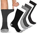 Diabetic Socks Women & Men   Wide Non Binding Edema, Neuropathy Socks (6-pairs)