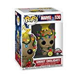 POP! Guardians of The Galaxy - Holiday Baby Groot with Christmas Lights Glow in The Dark Vinyl Figure