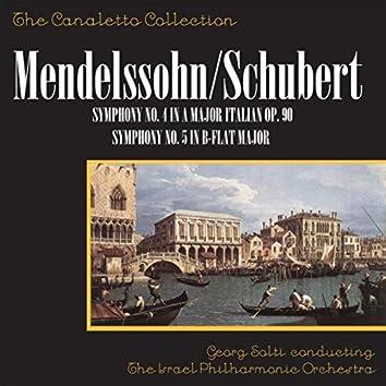 "Mendelssohn: Symphony No. 4 In A Major, Op. 90 ""Italian"" / Schubert Symphony No. 5 In B-Flat Major"