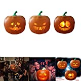 Talking Pumpkin Projection Lamp, Halloween Toys, Halloween Flash Talking Animated LED Pumpkin Projection Lamp for Home Party