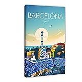 Lienzo de pared con impresión de Barcelona, España, para decoración de pared, para sala de estar, dormitorio, marco de 40 x 60 cm