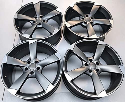 Carbonado LLANTA para Audi Mod. Rotor 18 Pulgadas Antracita Pulido