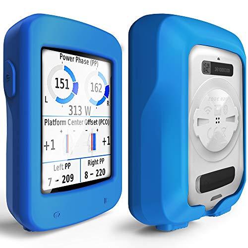TUSITA Funda para Garmin Edge Explore 820 - Protectora de Silicona Skin - Accesorios para computadora con GPS (Azul)