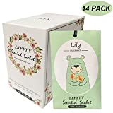 LIFFLY 14 Packs Lily Scented Sachets for Drawer and Closet