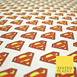 Superman-Logo, DC Comic Superheld, Digitaldruck, 100 %