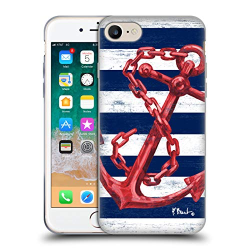 Head Case Designs Oficial Paul Brent Westerly Ancla Rojo Náutico Carcasa de Gel de Silicona Compatible con Apple iPhone 7 / iPhone 8 / iPhone SE 2020