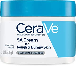 CeraVe SA Cream | Renewing Salicylic Acid Body Cream for Rough and Bumpy Skin | Fragrance..