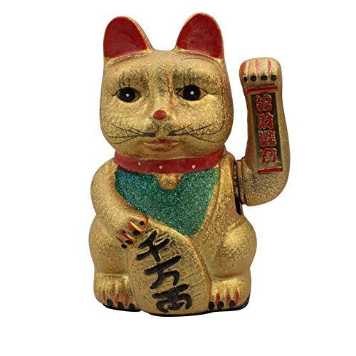 Superfreak Glückskatze - Maneki-Neko - Winkekatze aus Keramik - 22 cm - Gold