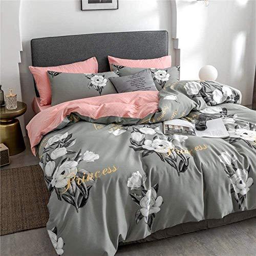 Cuatro piezas Juego de cama, sábanas de algodón bolsillo profundo de estilo americano de algodón satén de seda auténtico algodón de fibra larga Impreso de cuatro piezas juego de cama, Hoja sombra, cam