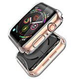 Misxi Compatible with Apple Watch Series 5 / Series 4 Screen Protector 40mm, 2019 New iwatch Cover TPU Overall Protective Case for Series 5 / 4 40mm (2-Pack Clear)