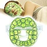 Kühlpads Coolpacks Gel Gesichtsmaske Kältemaske Kühlmaske Entspannungsmaske für Gesicht Wiederverwendbar Gesicht Kalt Warm Kompresse Kühlkissen - (7,8'x 7,8')