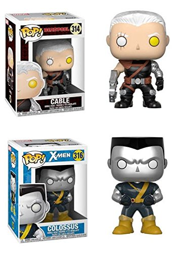 Funko POP! Marvel Deadpool: Cable + Funko POP! Marvel X-Men: Colossus (X-traje)