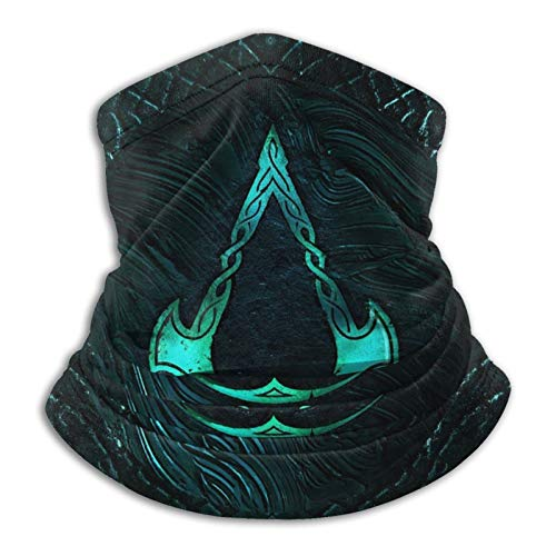 Assassins Creed Valhalla Logo Multifunctional Neck Headwear Face Mask 12 In 1 Bike Motorcycle Hiking dust-Proof Anti-Spray for Women Men Face Scarf