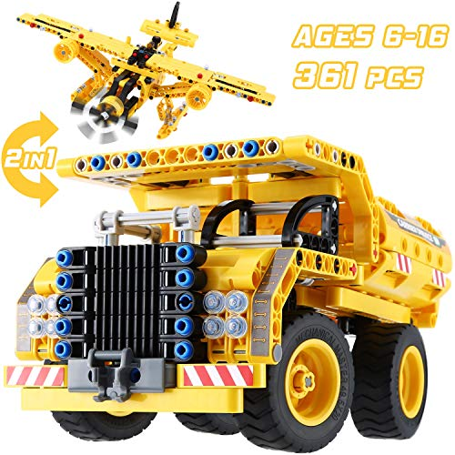 STEM Construction Engineering Building Kits, Dump Truck & Airplane Blocks Build Set $16.19 (40% OFF Coupon)