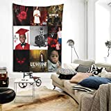 MORGAN MYERS Li-l Way-ne Tapestry Wall Hanging Bedding Tapestry 3D Printed Art Tapestry Home Decor Size: 80'X60'
