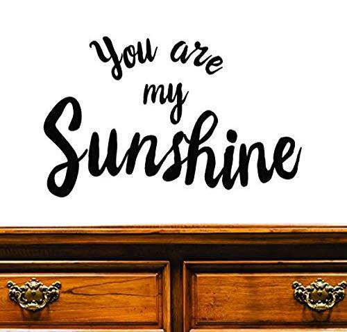 Motif Vinyle Avec 3 recharges de 2108 3 Hot nouveaux autocollants You Are My Sunshine Art mural Taille X pouces Couleur, 50,8 x 76,2 cm, Noir