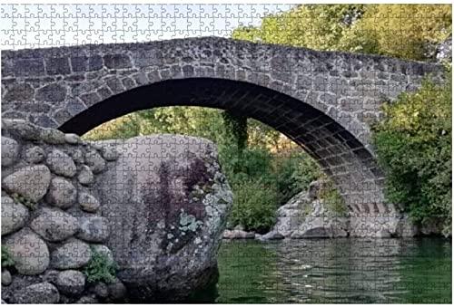 1000 piezas-Puente Romano del Parral y Piscinas Naturales Jarandilla de la Vera Rompecabezas de madera DIY Rompecabezas educativos para niños Regalo de descompresión para adultos Juegos creativos