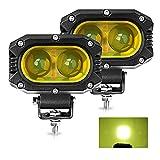 CO LIGHT LED Spot Beam luci di guida gialle fendinebbia luce di lavoro pod adatto per moto ATV UTV SUV auto trattore carrello elevatore barca (914Z-Y-S-pair)