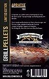 Grillschmecker Grillpellets - 10 kg aus Aprikosenholz -Natürliches Holzaroma für Grill, Pelletofen & Smoker -