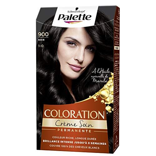 Schwarzkopf - Palette - Coloration Permanente Cheveux - Crème Soin - Couvre 100% des Cheveux Blancs - Tenue 8 semaines - Noir 900