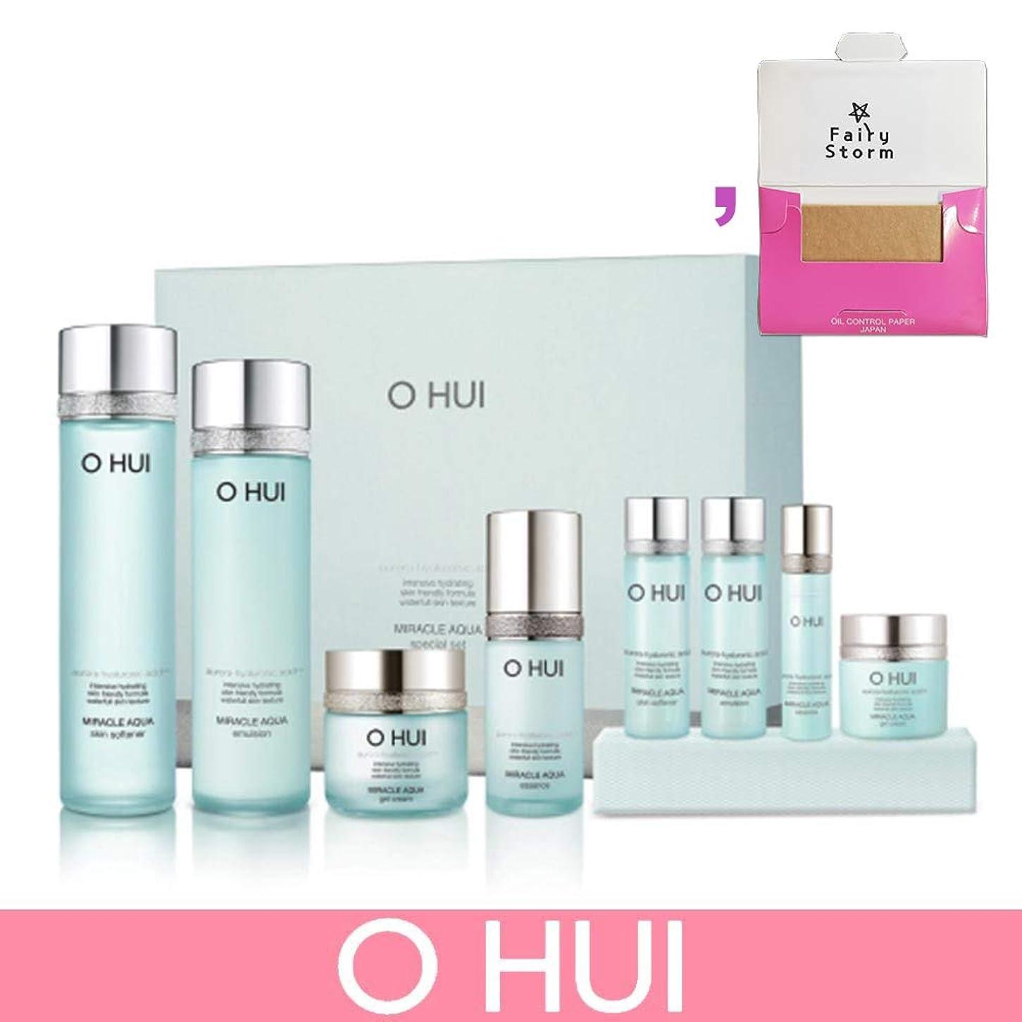 オフ八新鮮な[オフィ/O HUI]韓国化粧品 LG生活健康/O HUI MIRACLE AQUA SPECIAL SET/ミラクル アクア 4種セット + [Sample Gift](海外直送品)