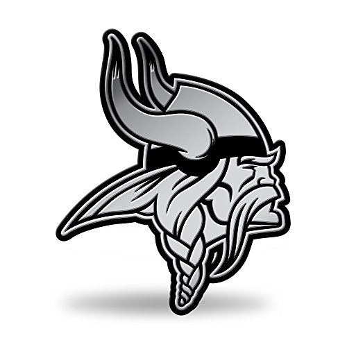 NFL Rico Industries Chrome Finished Auto Emblem 3D Sticker, Minnesota Vikings