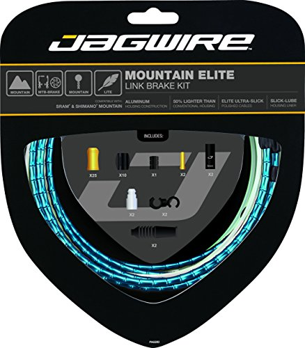 Jagwire 2X Sport Shift Kit Adult Unisex Shift Cable and Sheaths One Size Silver